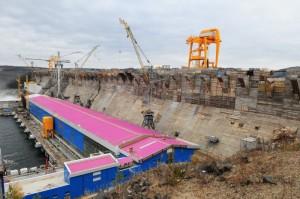 Богучанская ГЭС.