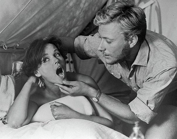 Наталья Фатеева и Андрей Миронов на съёмках Три плюс два, 1963 г.