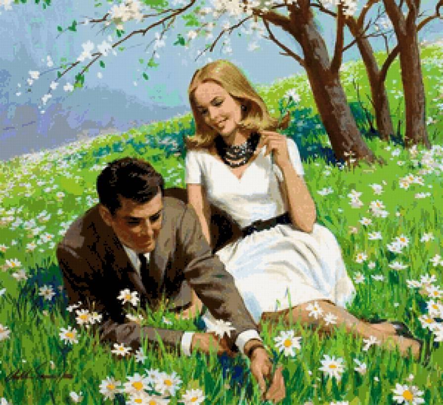 свидание на ромашковой поляне-2