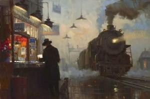 Опять встречаю поезда